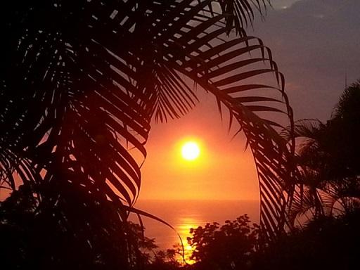 ハワイの美しい夕焼け
