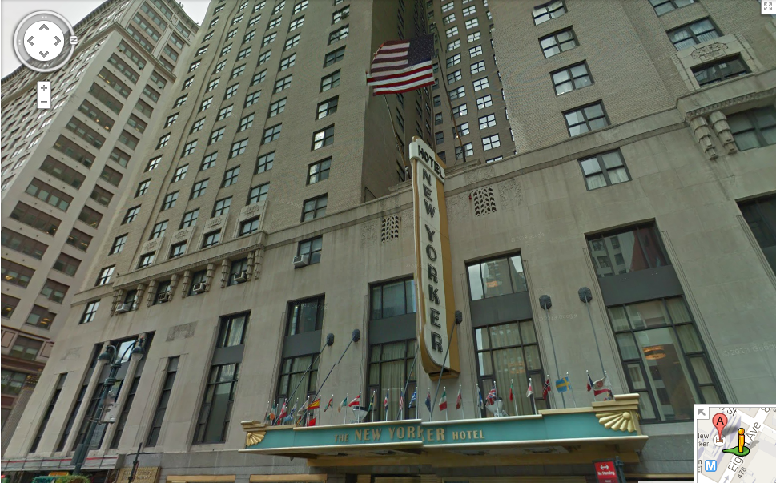The New Yorker Hotel  8th Avenue  New York  NY  アメリカ合衆国   Google マップ