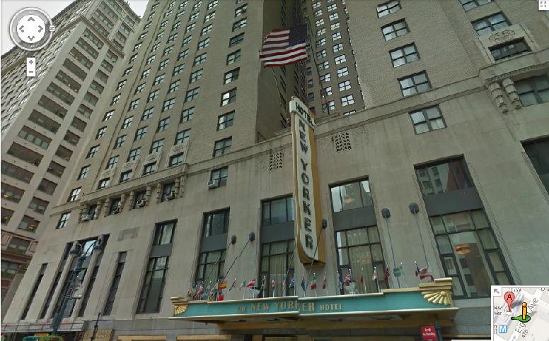 The New Yorker Hotel  8th Avenue  New York  NY  アメリカ合衆国   Google マップ