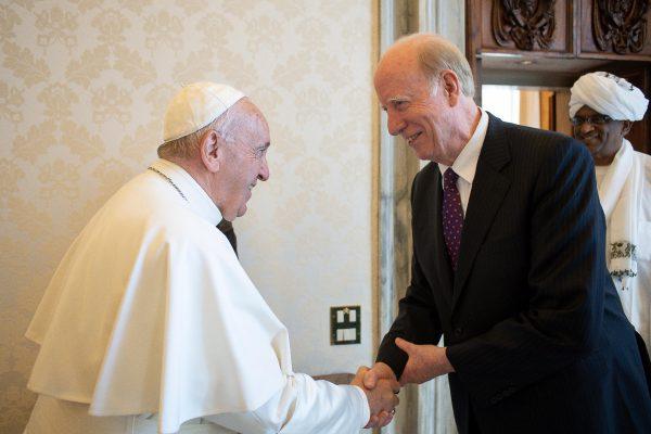 ウォルシュUPF会長とローマ教皇